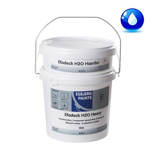 Gulvmaling H2O Heavy med hærder 8 liter